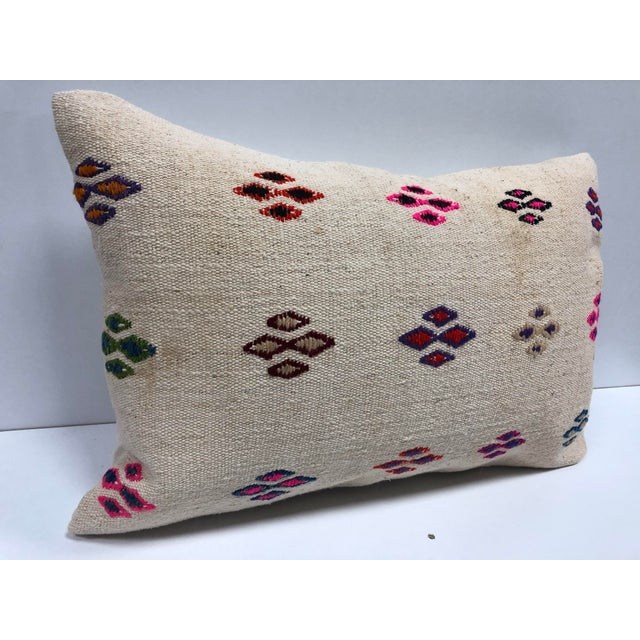 1970s Patterned Decorative Turkish Handmade Ethnic Cushion Cover For Sale - Image 5 of 6