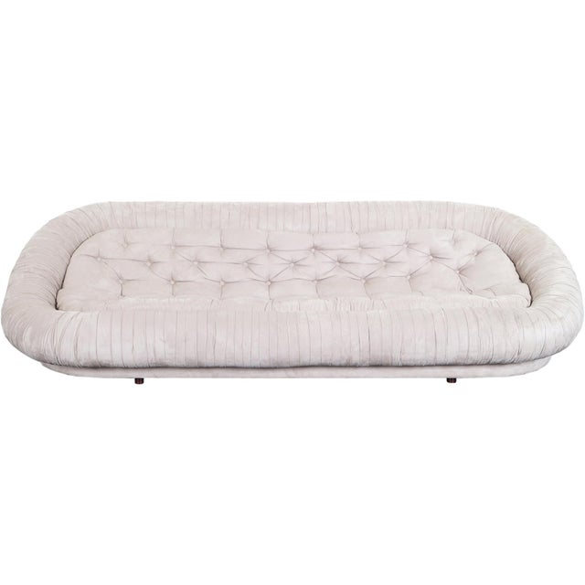 "Textile Vintage Italian Tufted ""Cloud"" Sofa For Sale - Image 7 of 7"