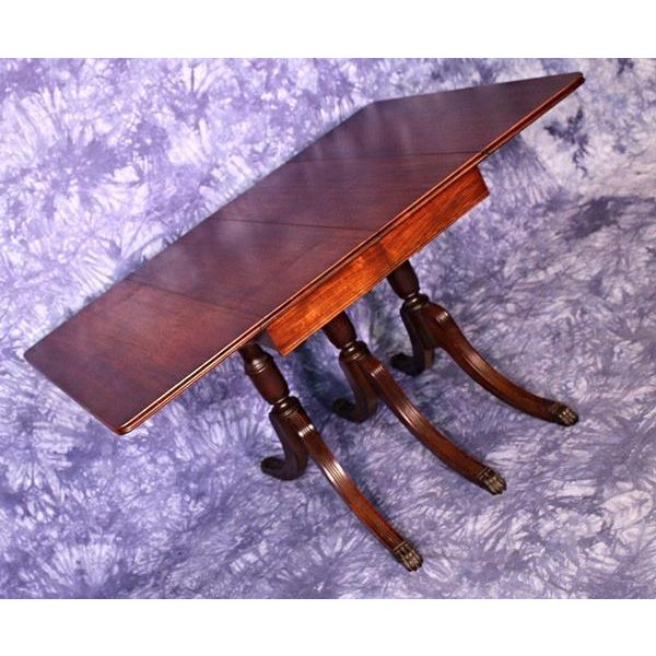 68d39bf845a6 1930 Duncan Phyfe Antique Mahogany Drop Leaf Dining Table For Sale - Image  9 of 11
