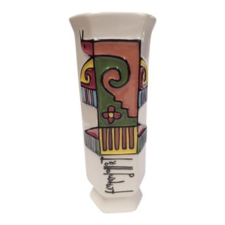 Fernando LLort Ceramic Vase For Sale