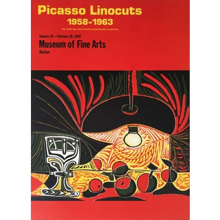Pablo Picasso 1969 Linocuts Exhibition Poster For Sale