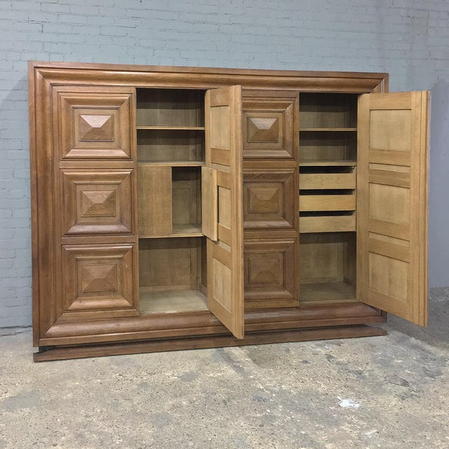 Mid-Century Modern Grand Oak Bookcase For Sale - Image 9 of 11