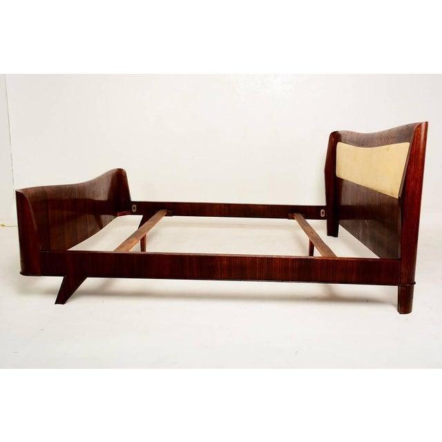 Italian Parchment & Walnut Queen Bedroom Set For Sale - Image 4 of 9