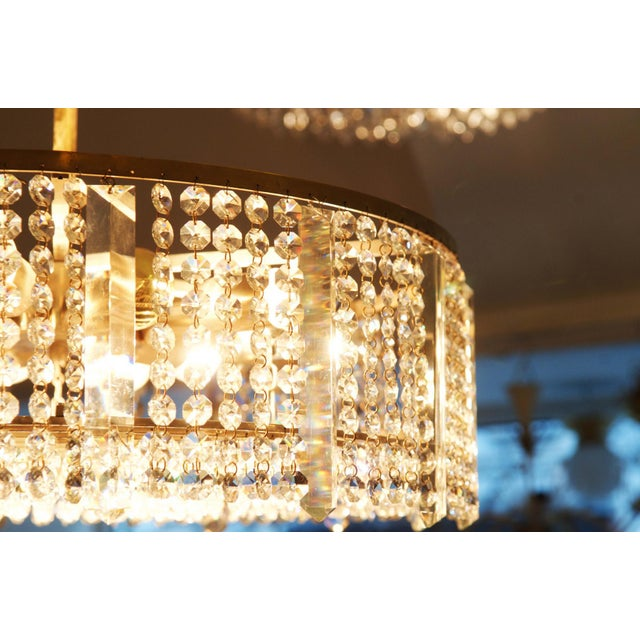 Austrian chandelier made of cut metal by Bakalowits & Söhne For Sale - Image 9 of 11