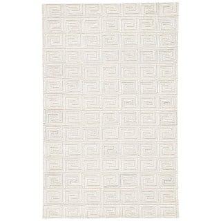 Jaipur Living Harkness Handmade Geometric White/ Gray Area Rug - 8′ × 11′