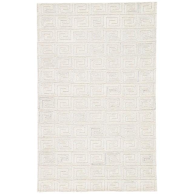 Jaipur Living Harkness Handmade Geometric White/ Gray Area Rug - 8′ × 11′ For Sale