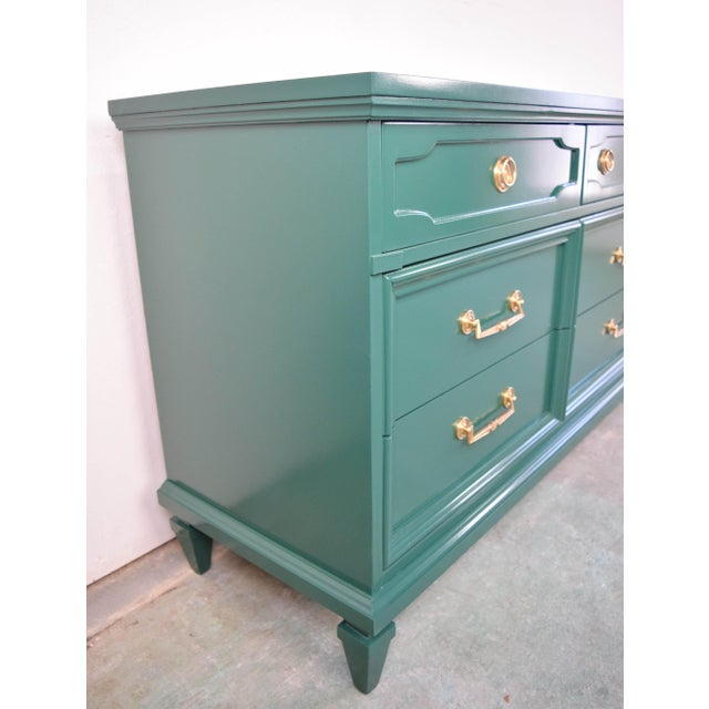 Modern 19th Century Modern Hunt Club Gloss Lacquer Green Dresser For Sale - Image 3 of 10