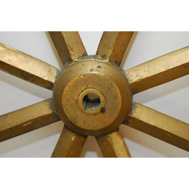 England Victorian Navy HMS Solid Brass Ships Wheel, circa 1910 - Image 8 of 8