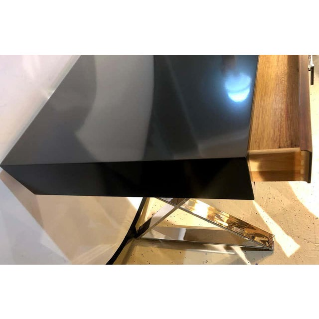 Black Mid-Century Modern Milo Baughman Vanity Desk For Sale - Image 8 of 13