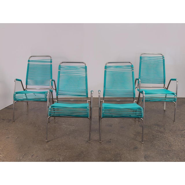 Mid-Century Modern Ames Aire Patio Chairs - Set of 4 For Sale - Image 3 of 9