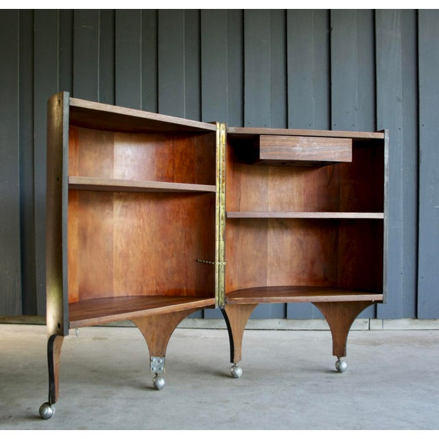 Rosewood Handmade Bar Cabinet on Casters Attr. To Henry Glass For Sale In Dallas - Image 6 of 13