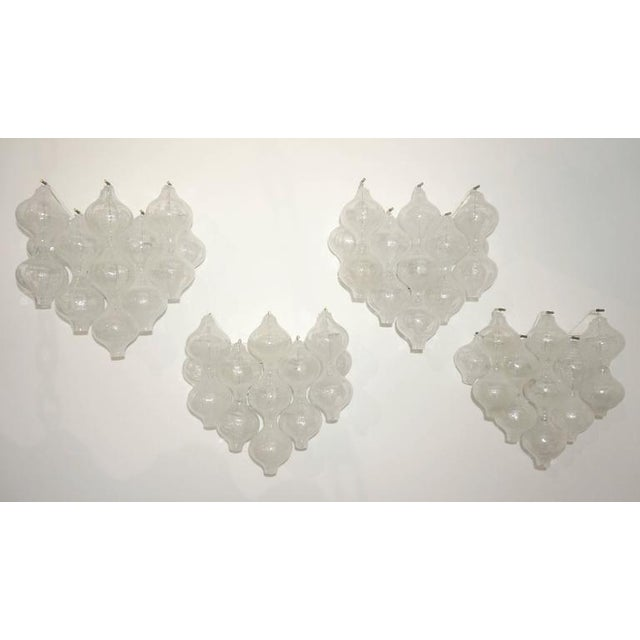 "Set of Four Large-Scale ""Tulipan"" Wall Sconces, Murano Glass, Austria, Kalmar - Image 4 of 9"