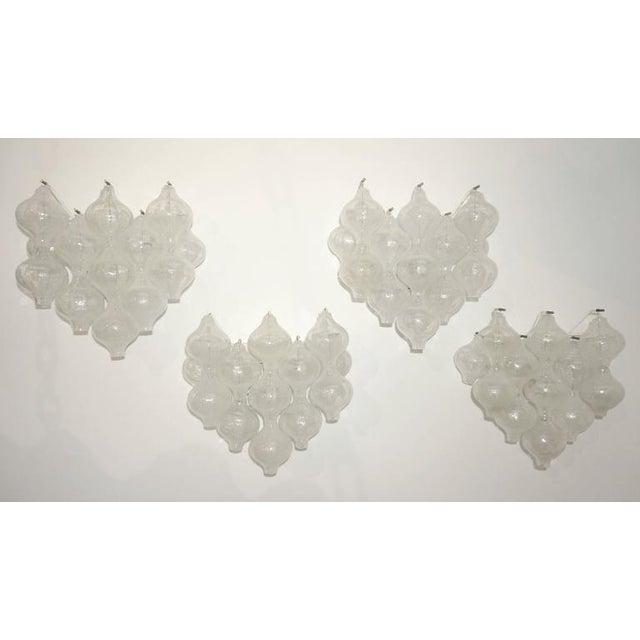 "J.T. Kalmar Set of Four Large-Scale ""Tulipan"" Wall Sconces, Murano Glass, Austria, Kalmar For Sale - Image 4 of 9"