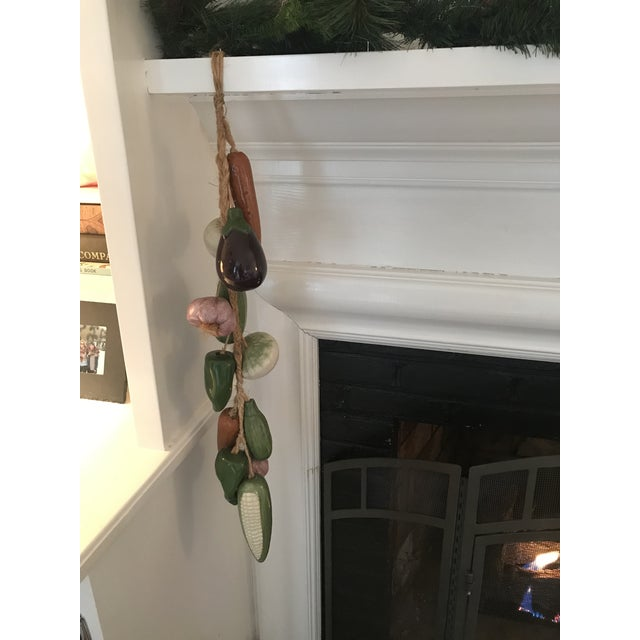 Farmhouse Vintage Italian Ceramic Vegetables on a Jute Rope For Sale - Image 3 of 9