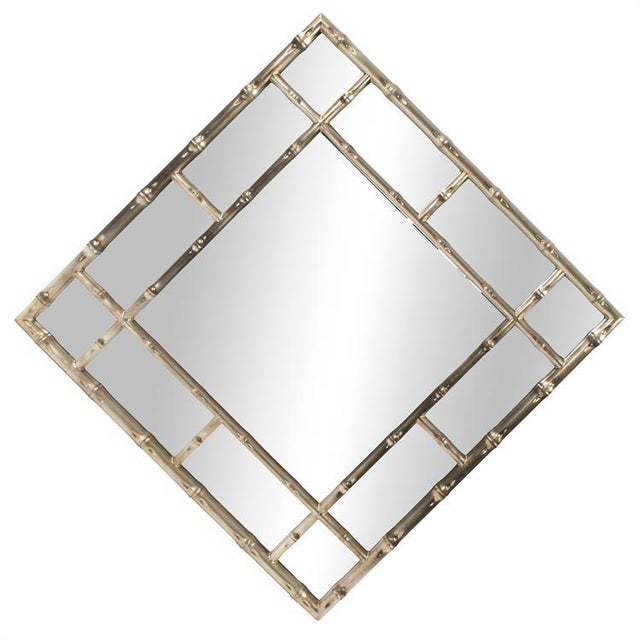 2020s Kenneth Ludwig Silver Bamboo Mirror For Sale - Image 5 of 6