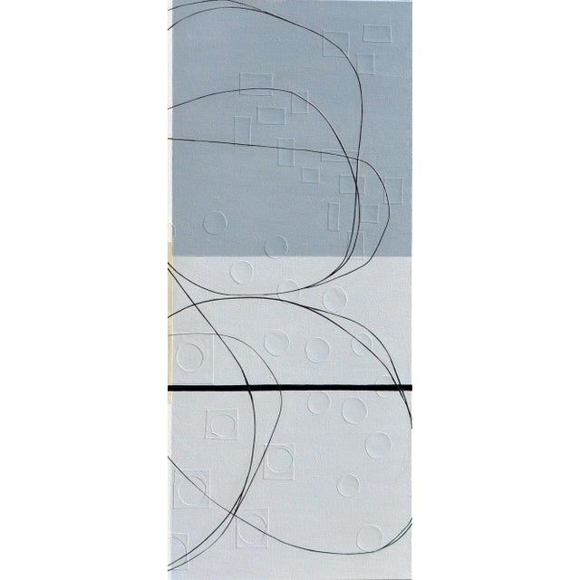 Early 21st Century Maura Segal Intersections Gray White Modern Painting 2018 For Sale - Image 5 of 6