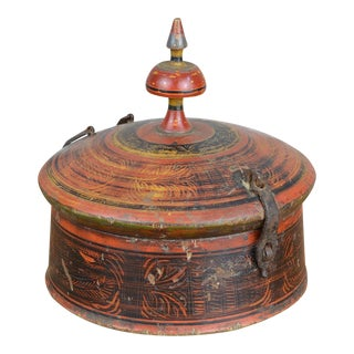 Late 19th Century Afghan Lidded Spice Vessel For Sale