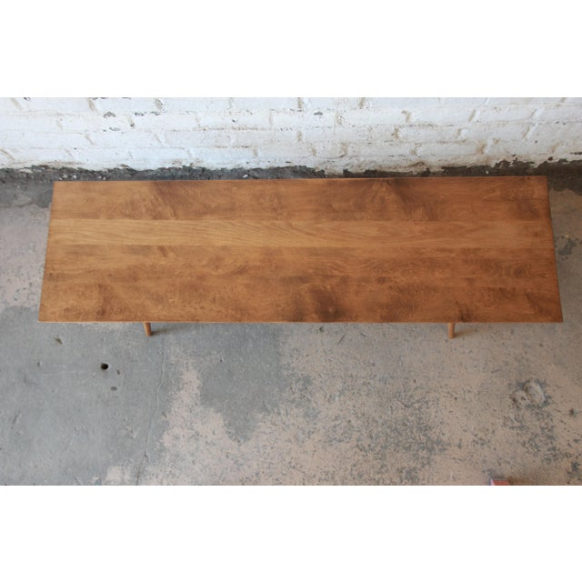 Brown Paul McCobb Planner Group Birch Coffee Table For Sale - Image 8 of 11