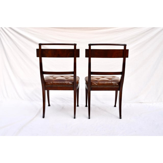 Henredon Hanover Tufted Leather Dining Chairs, Pair For Sale - Image 11 of 13