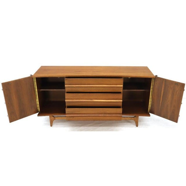 Mid-Century Modern Concave Front Dresser Credenza For Sale - Image 11 of 12