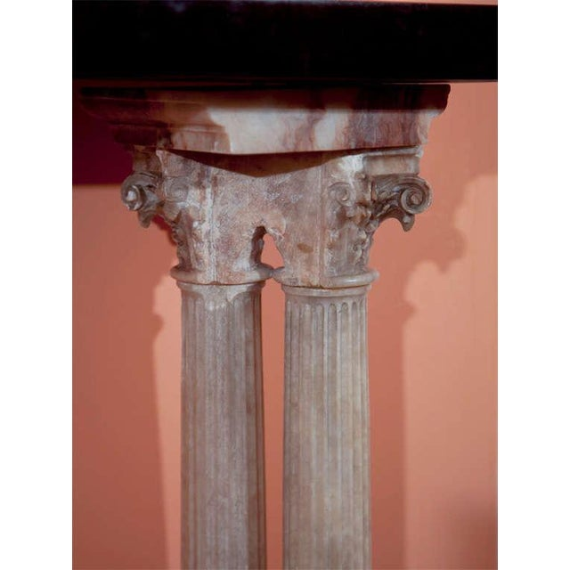 Neoclassical Neoclassical Alabaster Column Console For Sale - Image 3 of 7