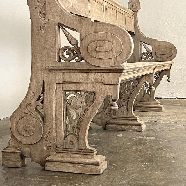 19th Century Gothic Revival Church Pew, Bench For Sale In Dallas - Image 6 of 13