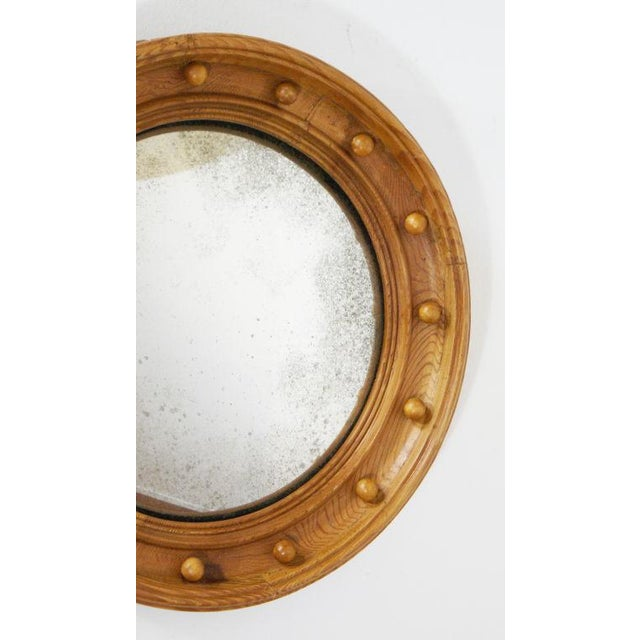 Mid 19th Century Pine Convex Mirror For Sale - Image 4 of 4