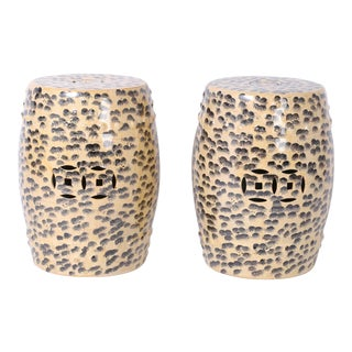 Chinese Leopard Garden Seats - A Pair For Sale