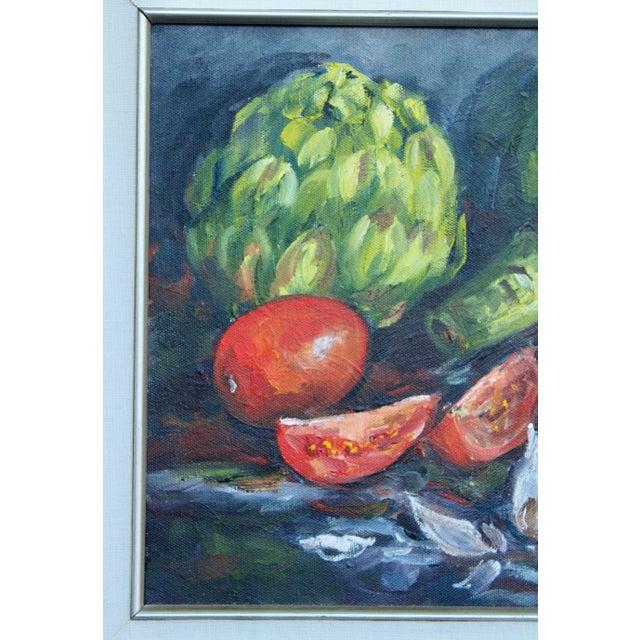 Paint Artichoke Vegetable Still Life Original Oil Painting For Sale - Image 7 of 11