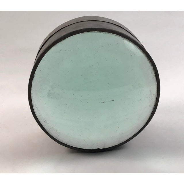Nautical 19th Century Lighthouse Glass Lens Nautical Sculpture For Sale - Image 3 of 10