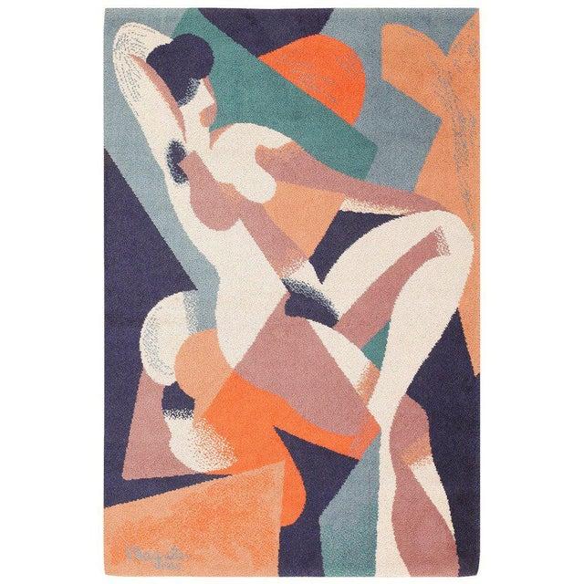 1950s Vintage Ege Scandinavian Carpet After René Magritte - 4′7″ × 6′7″ For Sale - Image 5 of 5