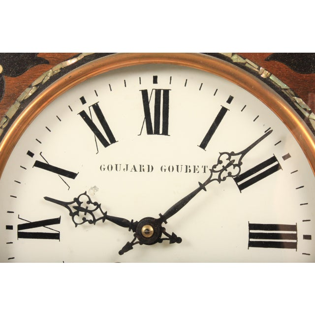 Late 19th Century 19th-C. French Napoleon III Wall Clock For Sale - Image 5 of 7