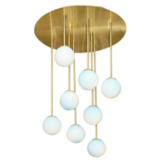 """Murano Glass """"Atoms"""" Chandelier For Sale"""