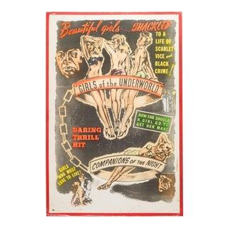 "Orginal ""Sexplotation"" Movie Poster Card C.1940 For Sale"