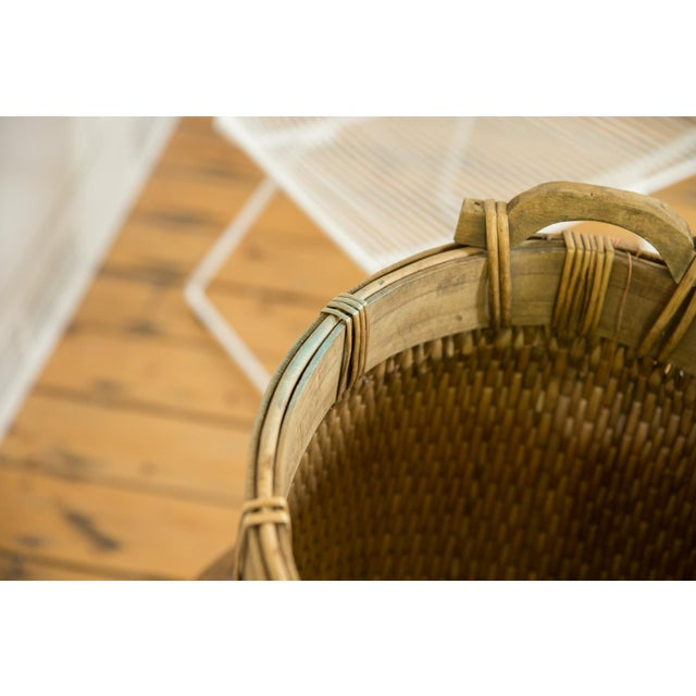 Natural Vintage Willow Basket For Sale In New York - Image 6 of 10