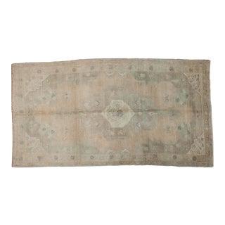 "Vintage Distressed Oushak Carpet - 5'4"" x 9'11"""