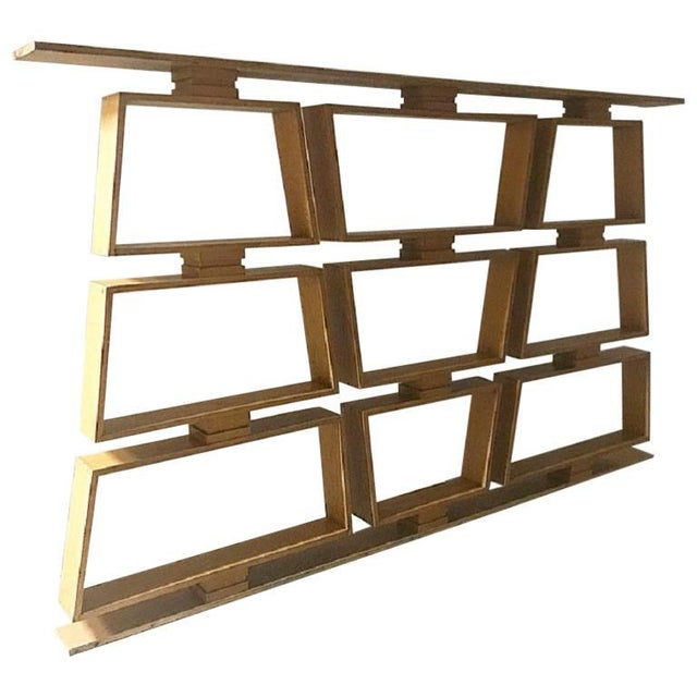 1950s Mid-Century Wood Room Divider / Shelves For Sale - Image 5 of 5
