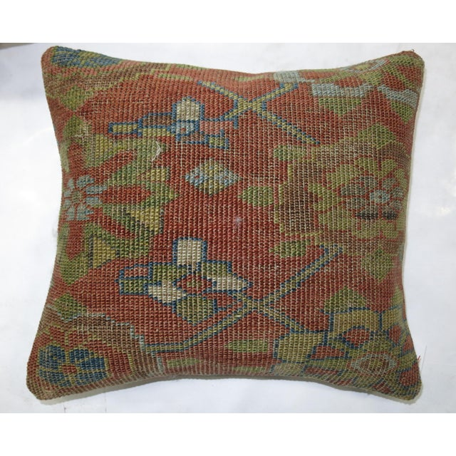 Persian Rug Pillows - a Pair For Sale - Image 5 of 5
