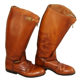 Custom English Equestrian Riding Polo Leather Boots