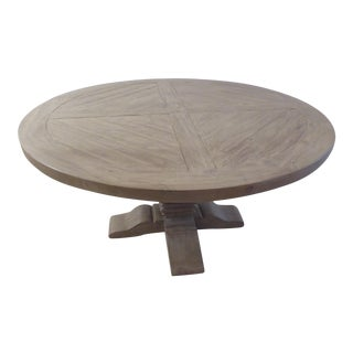 Restoration Hardware Round Trestle Dining Table