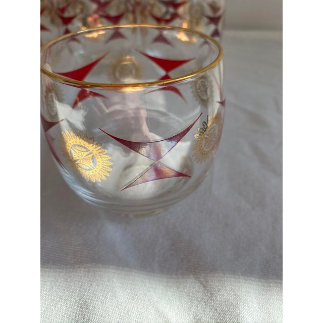 1960s Mid-Century Sasaki Roly Poly Tumbler Glasses - Set of 9 For Sale - Image 10 of 13