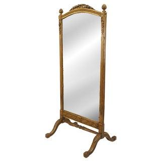 Louis XVI Gilt Cheval Mirror For Sale