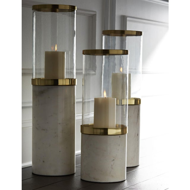 New and unused with original packaging modern style hurricane lamp. Available in 3 sizes - small, medium and large.