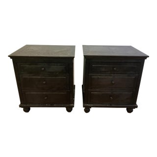 Restoration Hardware Annecy Metal Nightstands - a Pair For Sale