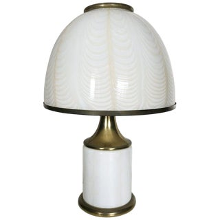 Vintage Italian Art Deco Style Table Lamp by Fabbian for Mazzega For Sale