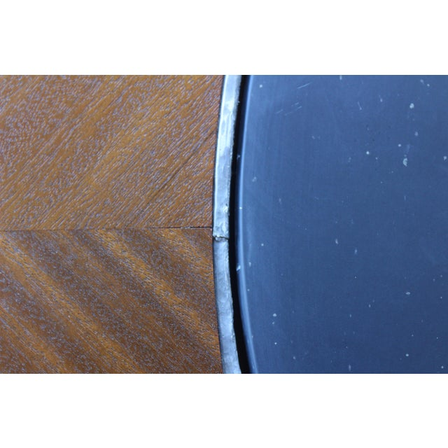 1960s Mahogany Coffee Table With Slate Top For Sale - Image 5 of 9
