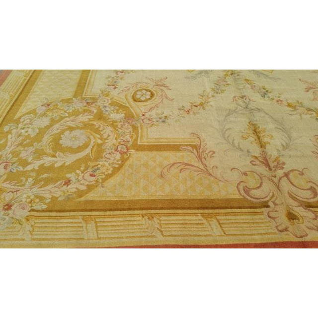 14'x19' Aubusson Design Hand Made Knotted Rug - Size Cat. 12x18 13x20 - Image 5 of 12