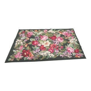 French Floral Aubusson Rug