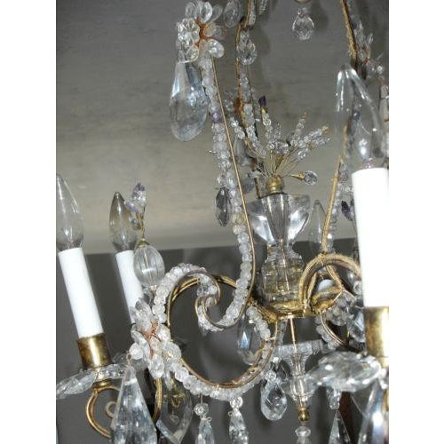 19th Century Maison Bagues Rock Crystal Chandelier For Sale - Image 5 of 10