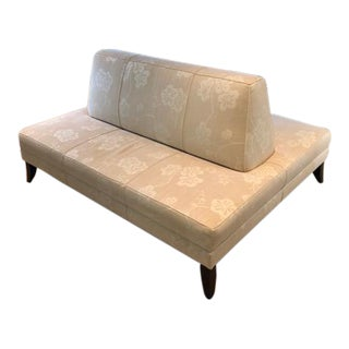 Modern Custom Two-Sided Settee For Sale